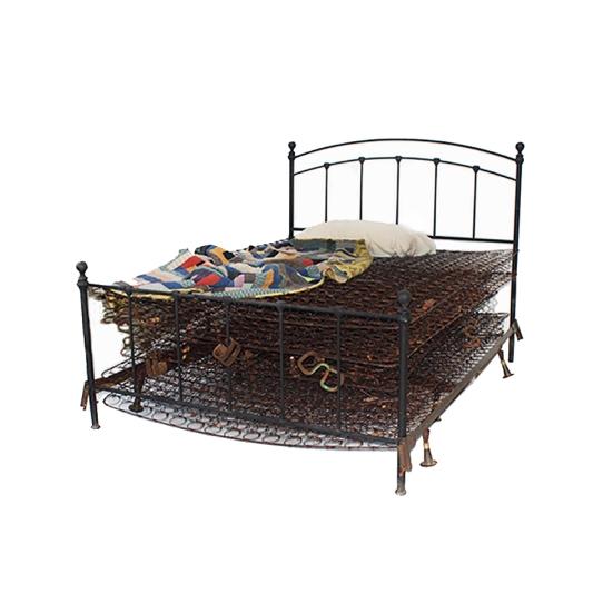 """Iron Bed,"" Sculpture Art by Artist Angela Scozzari"